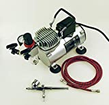 Air Compressor and One Double-Action, Dual Action Airbrush with 7 cc Cup Kit