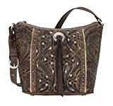 American West Women's Hill Country Tote Bag Distressed Brown One Size
