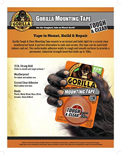Gorilla Tough & Clear Double Mounting 1 Inch Inches,