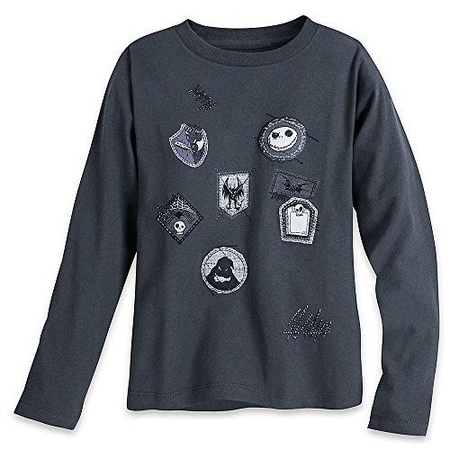 Disney Tim Burton's The Nightmare Before Christmas Long Sleeve T-Shirt for Boys Size XL (14) Blue -