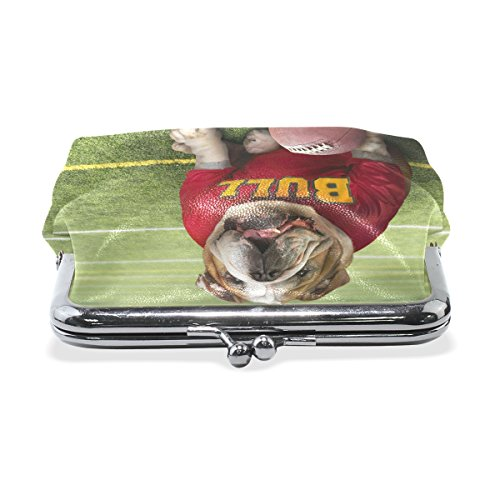 Small Cash American Purse Women Small Wallets for Change TIZORAX Bag Dog Bull Purse Coin Girl Football UvxBn