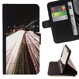 """For Samsung Galaxy S6 Edge Plus / S6 Edge+ G928,S-type Carretera Luces Noche En coche El exceso de velocidad"""" - Dibujo PU billetera de cuero Funda Case Caso de la piel de la bolsa protectora"""