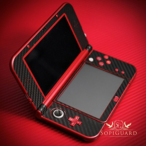 SopiGuard Black Carbon Fiber Vinyl Skin Full Body for Nintendo New 3DS XL LL (New 3ds Xl Carbon Fiber compare prices)