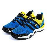 WalkWalk9 Men Ruber Screen Cloth Breathable Summer Shoes(7 US,Yellow)