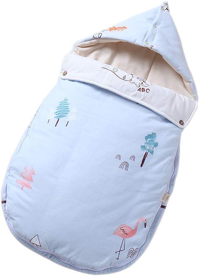 BOZEVON Saco de Dormir para Bebés - Edredón de Algodón Antideslizante de Patrón Natural al Aire Libre 0~6 Meses/80CM: Amazon.es: Ropa y accesorios