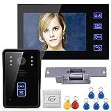 "MAOTEWANG 7"" TFT LCD RFID Video Door Phone Intercom Doorbell Home Security System"