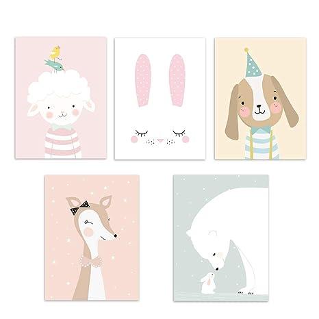 Cadre Chambre Bebe Fille.Jiyaru Affiche Chambre Bebe Ou D Enfant Poster Animal Mural