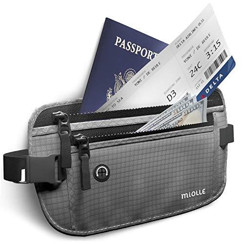 Money Belt for Travel RFID Blocking Running Pack Waist Pack Hidden Wallet Travel Wallet Security Money Belts for Men and Women