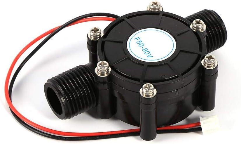Zyyini Generador de turbina de Agua 10W Micro Hidroel/éctrico DC Power Generador de Flujo de Agua Micro-Hydro Water Loading Tool