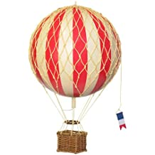 Hot Air Balloon Home Decor - Authentic Models Floating the Skies, Color: Red