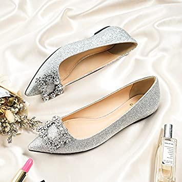 Huaihaiz Damen High Heels Pumps Flache Schuhe Crystal Schuhe