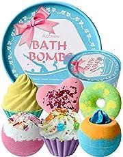 Aofmee 6st Badbommen Geschenken Set, Bomb Cosmetics Cadeauset, Bubble handgemaakte Badballen Vrouwen Gift Set, Verjaardagscadeau Valentijnsdag Kerstmis Moederdag voor Vrouw Vriendin Moeder Kinderen