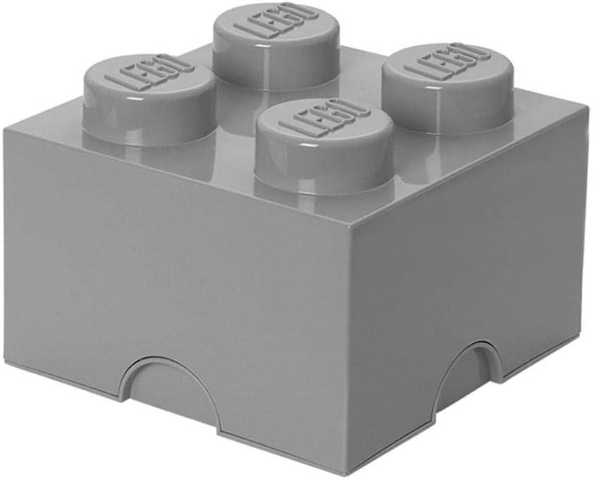 LEGO Storage Brick 4 Stone, Grey, Medium