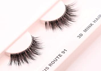 7bce1a51dc5 Amazon.com : Cherishlook 3D MINK Hair Eyelashes (US Route 91) - 3packs :  Beauty