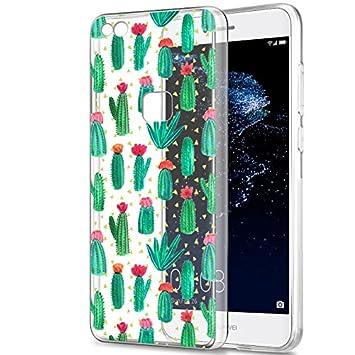 Eouine Funda Huawei P10 Lite, Cárcasa Silicona 3D Transparente con Dibujos Diseño TPU Antigolpes de Protector Bumper Case Cover Fundas para Movil ...