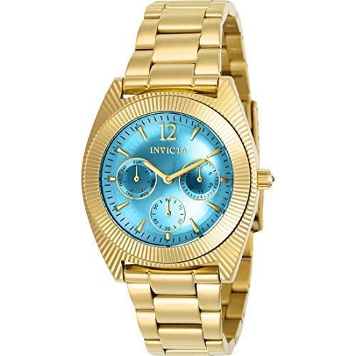 Amazon.com: Invicta Womens Angel Quartz Watch with Stainless-Steel Strap, Gold, 21 (Model: 23753: Invicta: Watches