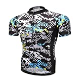 BIYINGEE Men's Bicycle Jersey Short Sleeve with Reflective Stripe