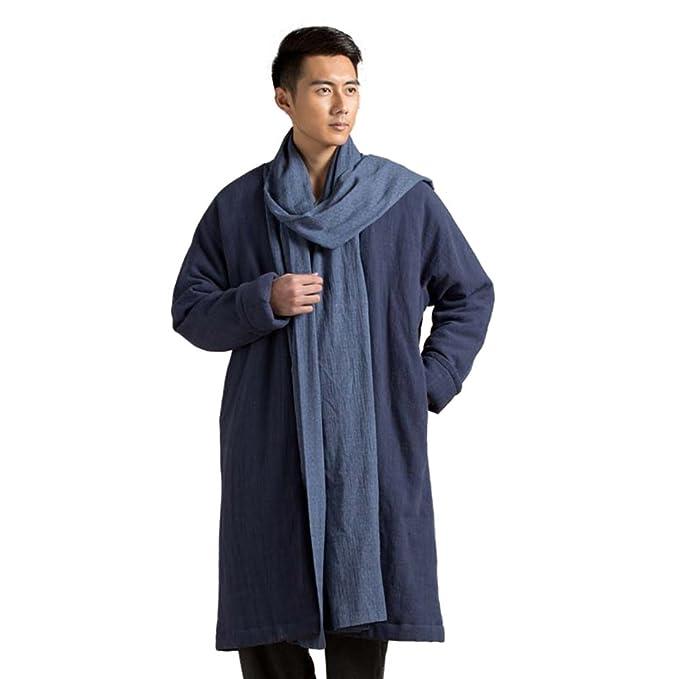 acquista per il meglio prodotto caldo ottima qualità KATUO Vintage Lunga Cotone Cappotto Caldo Invernale Sciarpa ...