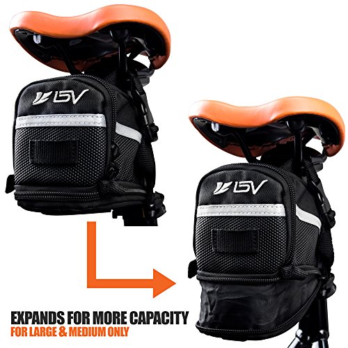 BV Bicycle Strap-On Saddle/Seat Bag