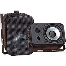 Pyle PDWR40B Black Waterproof 5.25 400W Indoor/Outdoor Speakers W/Mesh Grills Consumer Electronics