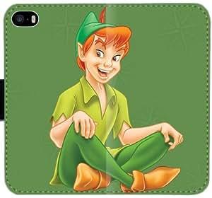 Caja del cuero de Peter Pan L4R2W Funda iPhone 4 4S Funda SRf3k3 diseño único funda del caso del tirón