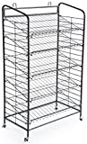 Displays2go Baker's Rack with 5-Adjustable Shelves, 29-Inch by 51-Inch, Steel, Black