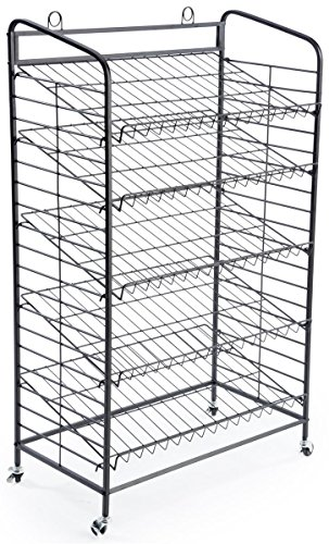 Displays2go Baker's Rack with 5-Adjustable Shelves, 29-Inch by 51-Inch, Steel, Black by Displays2go (Image #1)