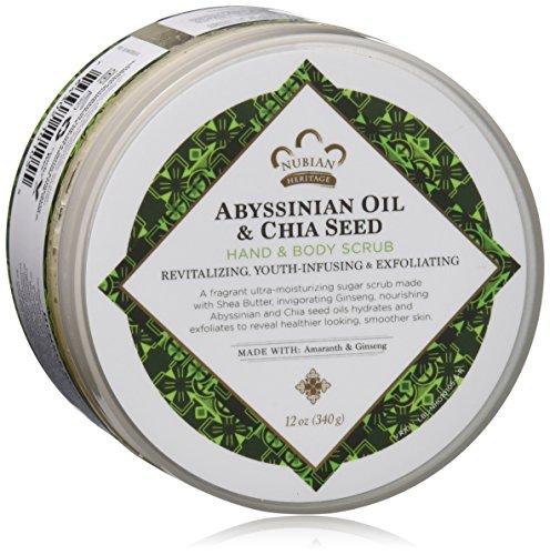 Nubian Heritage Abyssinian Oil & Chia Seed Body Scrub, 12 Ounce