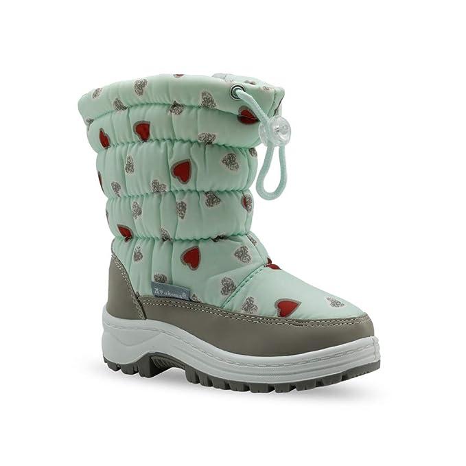 los angeles fa646 25715 Niños Corazón Botas De Nieve Con Zapatos Cremallera Cordón qZqOrw