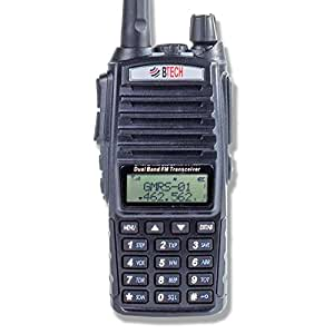 BTECH GMRS-V1 GMRS Two-Way Radio, GMRS Repeater Capable, with Dual Band Scanning Receiver (136-174.99mhz (VHF) 400-520.99mhz (UHF))