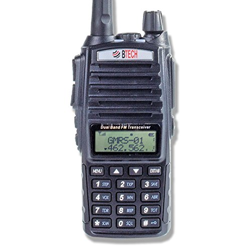 BTECH GMRS-V1 GMRS Two-Way Radio, GMRS Repeater Capable, with Dual Band Scanning Receiver (136-174.99mhz (VHF) 400-520.99mhz (UHF)) - Mobile Micro