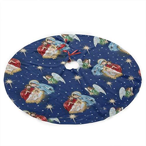 Nativity Scene Tree Skirt - KJKDSOJ Xmas Tree Skirt 35.5