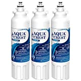 AQUACREST NSF 401, 53&42 ADQ73613401 Refrigerator Water Filter, Compatible with LG LT800P, ADQ73613402, Kenmore 9490, 46-9490 (Pack of 3)