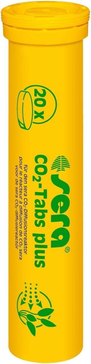 Sera 08040 Pastillas de CO2 Plus (20 Pastillas de CO2) adecuadas para el Arranque de CO2 Set de Cuidado de Plantas