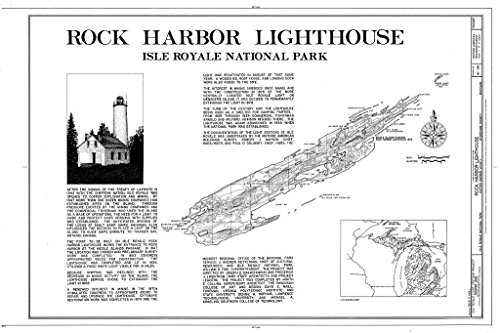 - Blueprint Diagram HABS MICH,42-COPHAR.V,2- (Sheet 1 of 7) - Rock Harbor Lighthouse, Copper Harbor, Keweenaw County, MI 12in x 08in