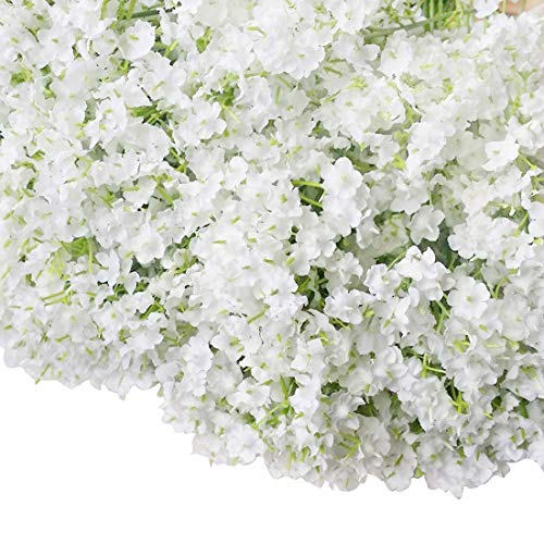 Bringsine Baby Breath/Gypsophila Wedding Decoration White Colour Silk Artificial Flowers 20 Pieces/lot