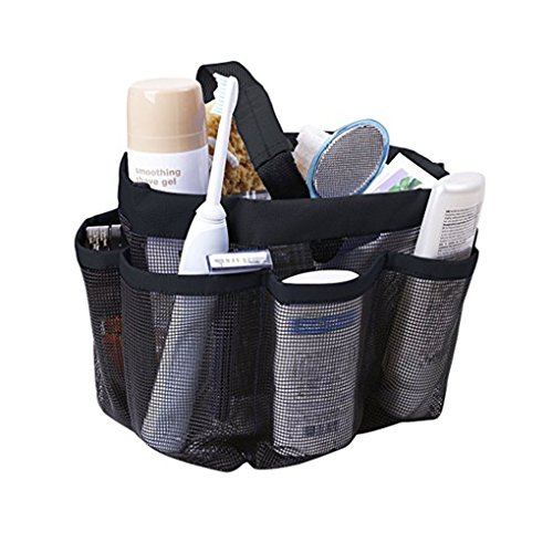 Quick Dry Mesh Shower Caddy, Hanging Shower Tote Bag Toiletry Bath Organizer Makeup Comestic Storage Bag Basket with 11 Storage Pockets for Home Gym Travel Dorm Bathroom Washing Bag Case with Handle ... (Mesh Quick Dry Caddy Shower)