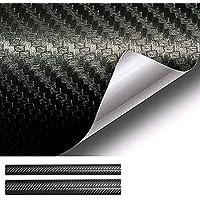 Tobeape 6D Black Carbon Fiber Vinyl Wrap Set, Sheet Roll for Automotive Use, Including Two Rolls of Self Adhesive Film…