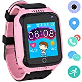 Kids Smartwatches for Boys Girls – GPS Fitness Tracker Watch for Children with Games Phone SOS Alarm Clock Camera Children Gifts Control by Parents Compatible with iPhone/Android (01 GM11 Pink GPS) Review