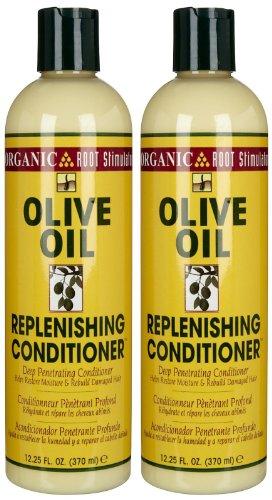 Replenishing Conditioner - Organic Root Stimulator Olive Oil Replenisher, 12.25 oz, 2 pk