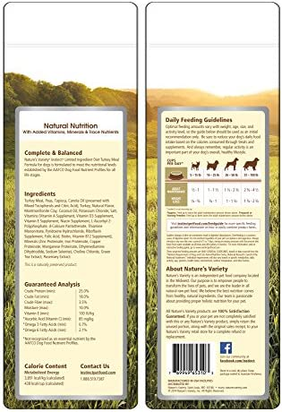Instinct Limited Ingredient Diet Grain Free Turkey Meal Formula Natural Dry Dog Food By Nature S Variety, 4.4 Lb. Bag