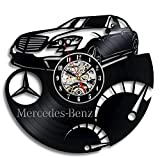 Mercedes Benz Vinyl Record Wall Clock - Decorate your home with Modern Art - Gift for men and women, girls and boys - Win a prize for a feedback