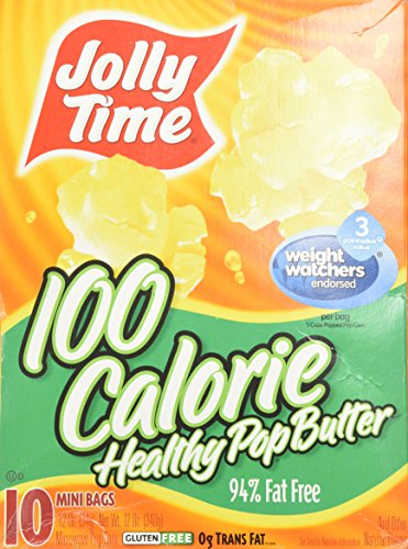 Mini Microwave Popcorn (Jolly Time Popcorn 100 Calorie Healthy Pop Butter Mini Bags - 10 CT)
