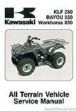 99924-1284-04 2003-2006 Kawasaki KLF250-A1 Bayou ATV Service Manual