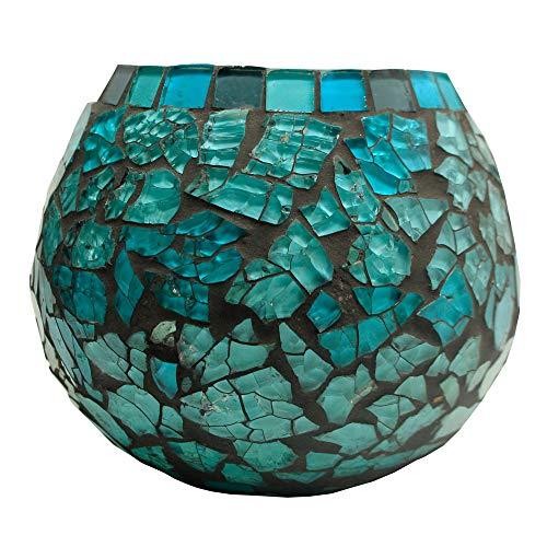 Amber Home Goods Blue Moon Glass Ball Votive, Large (Each Piece)