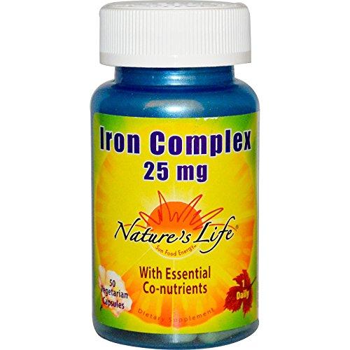 Nature's Life, Iron Complex, 25 mg, 50 Veggie Caps - 2pc