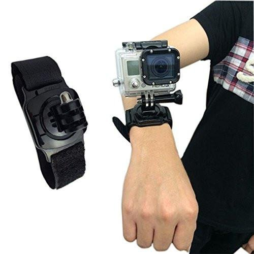 SublimeWare - 360 Degree Rotation Arm Strap Mount for Gopro wrist mount for Gopro the strap for GoPro Wrist Strap for Gopro Hero3 Hero3+ Hero4 Hero5 Black Session HD SJCAM SJ4000 SJ5000 Xiami Yi