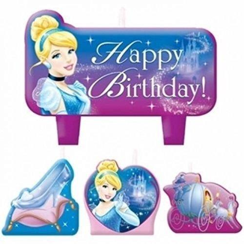 Disney Cinderella Cakes - Disney Princess Cinderella Birthday Cake Candle Set Party Supplies