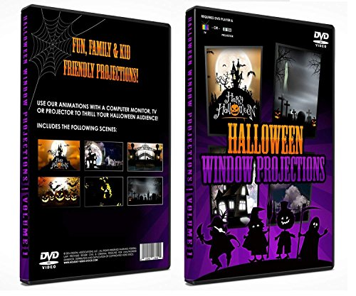 Halloween Digital Window Decoration DVD Vol 1 - Kid Friendly!