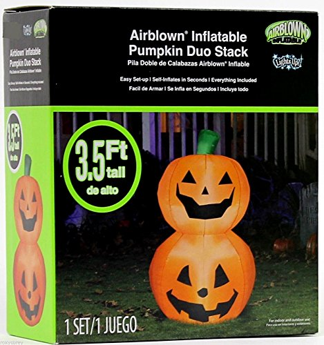 Pumpkin Duo Stack Halloween Airblown Inflatable - 3.5'